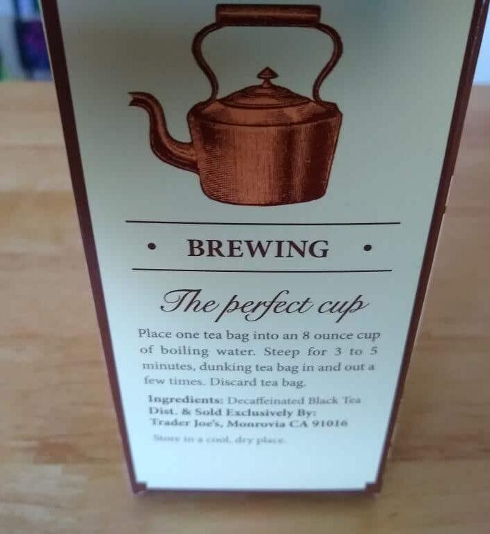 Trader Joe's Decaf Irish Breakfast Tea 2