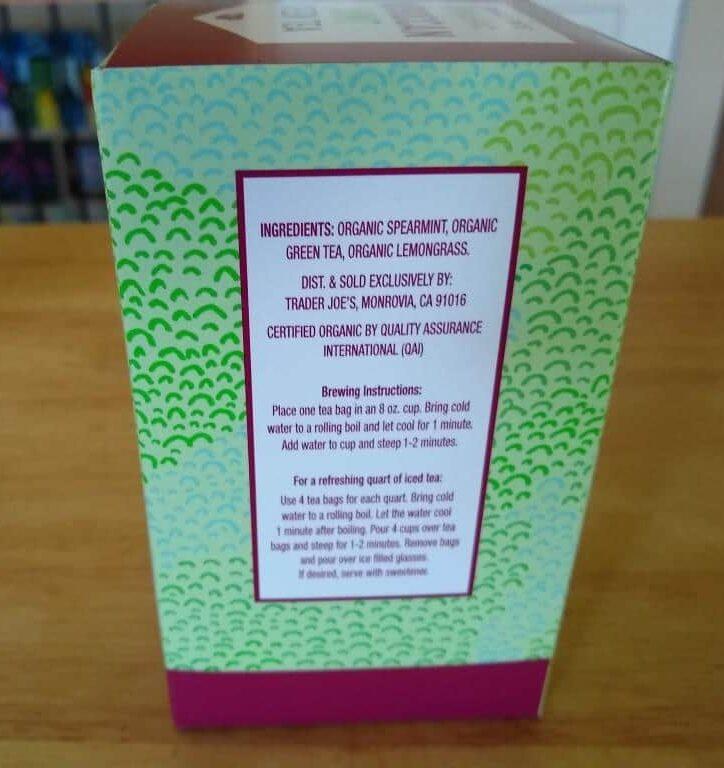 Trader Joe's Organic Moroccan Mint Green Tea 2