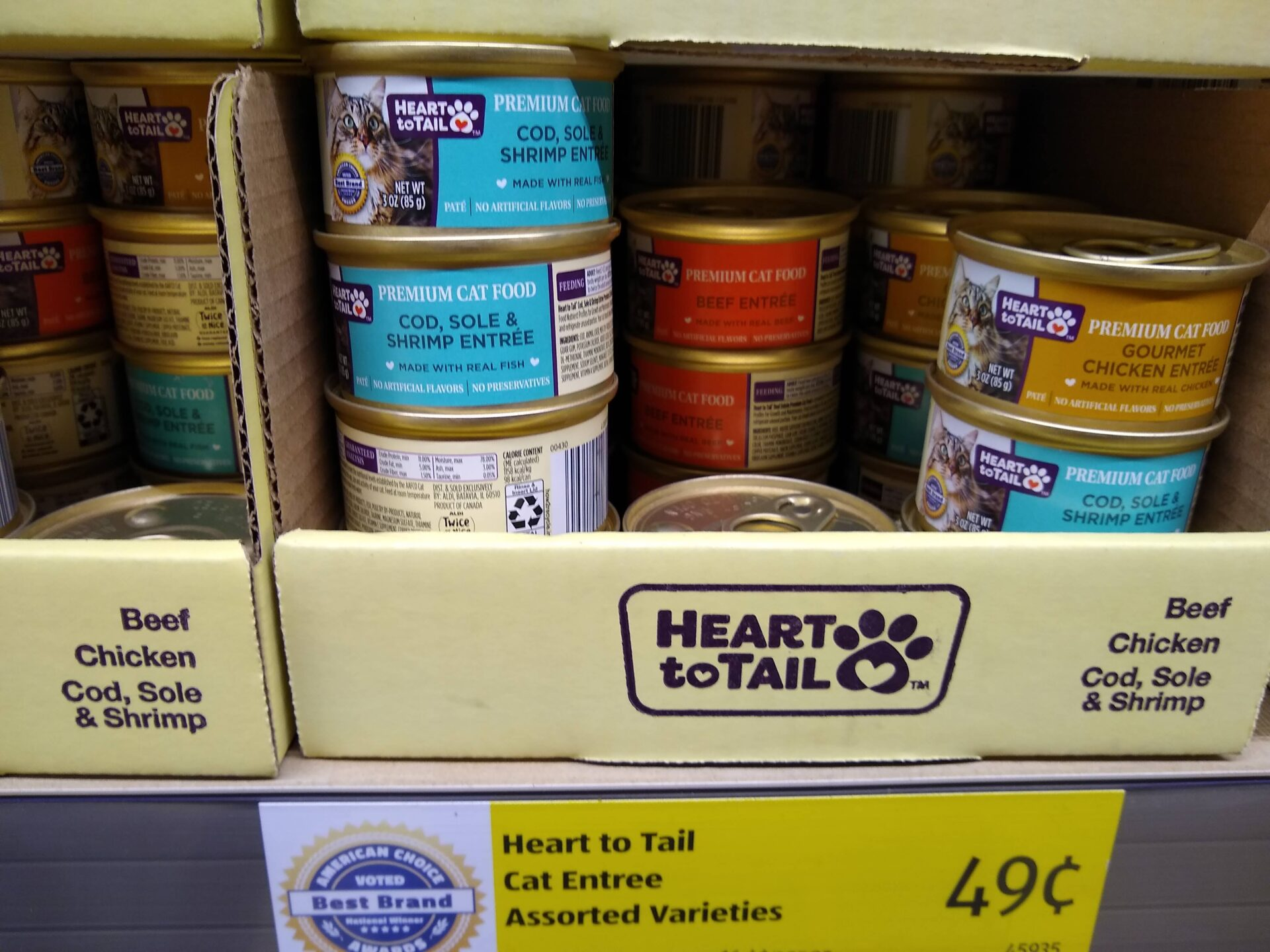 Heart to Tail Premium Canned Cat Food small cans