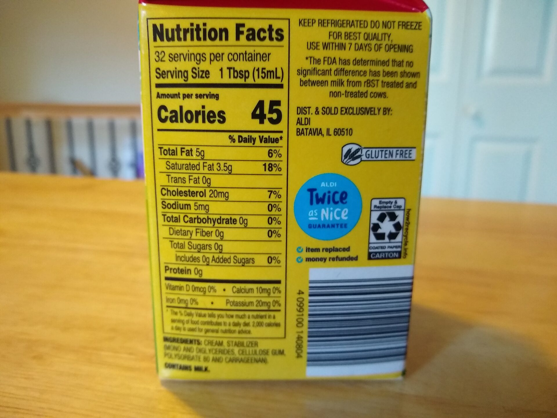 Countryside Creamery Heavy Whipping Cream Aldi Reviewer