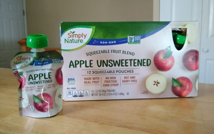 Simply Nature Apple Unsweetened Squeezeable Fruit Blend