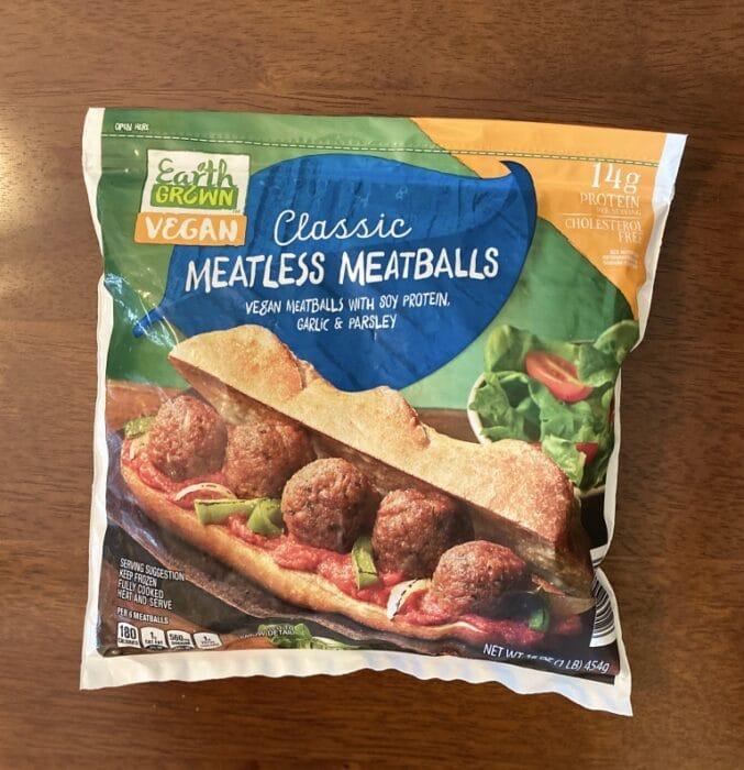 Earth Grown Classic Vegan Meatballs 1