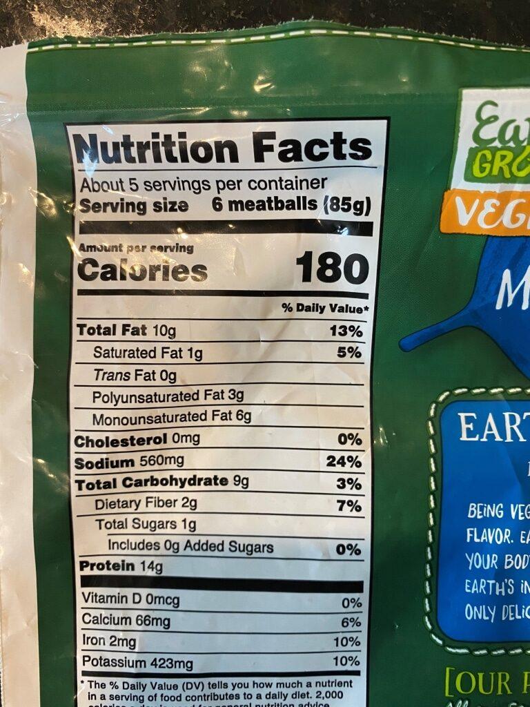 Earth Grown Vegan Classic Meatless Meatballs Aldi Reviewer