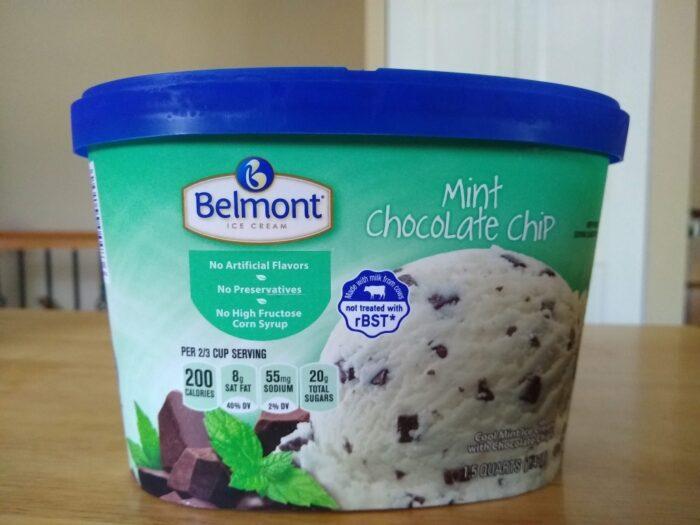 Belmont Mint Chocolate Chip Ice Cream