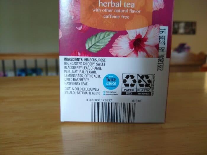 Benner Raspberry Hibiscus Herbal Tea