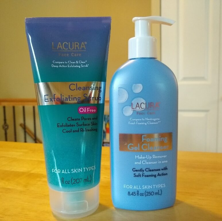 Lacura Cleansing Exfoliating Scrub + Lacura Foaming Gel Cleanser ...