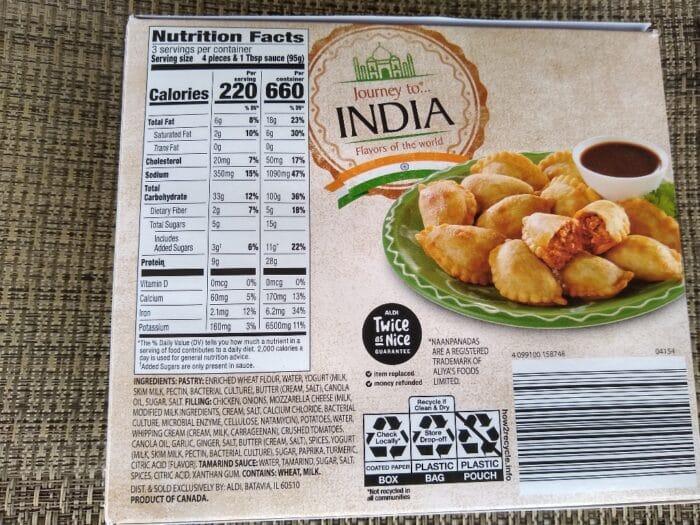 Journey to India Butter Chicken Mini Naanpanadas