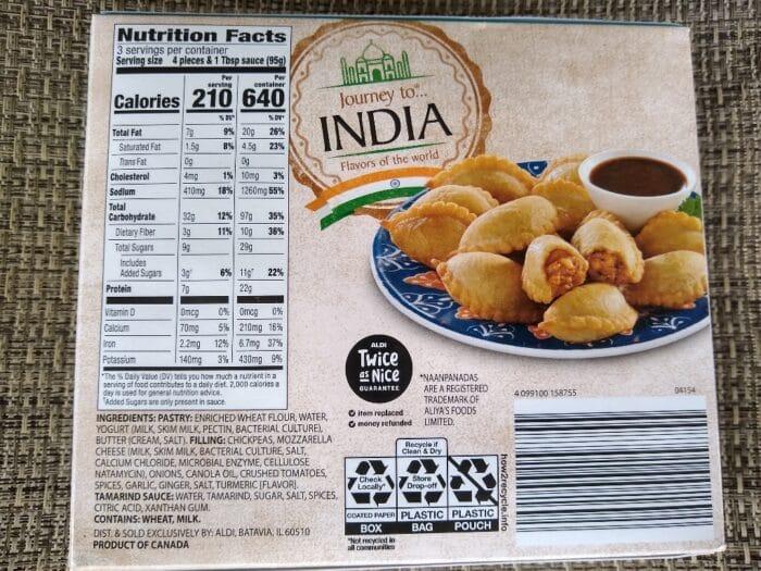 Journey to India Chickpea Curry Mini Naanpanadas