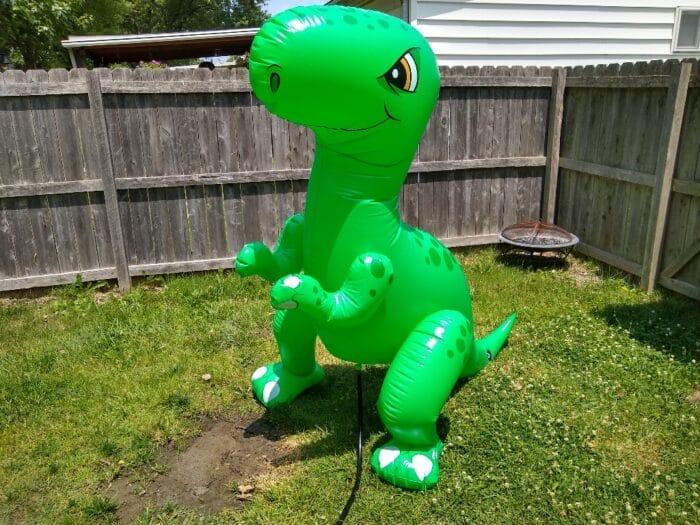 Summer Waves Giant Dino Sprinkler - fully assembled