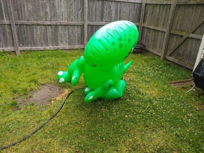 Summer Waves Giant Dino Sprinkler - after leaking