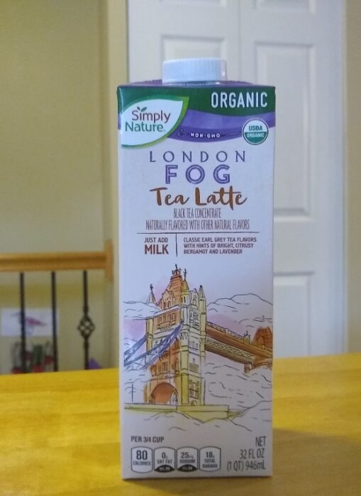 Simply Nature London Fog Tea Latte
