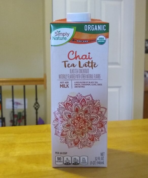 Simply Nature Chai Tea Latte