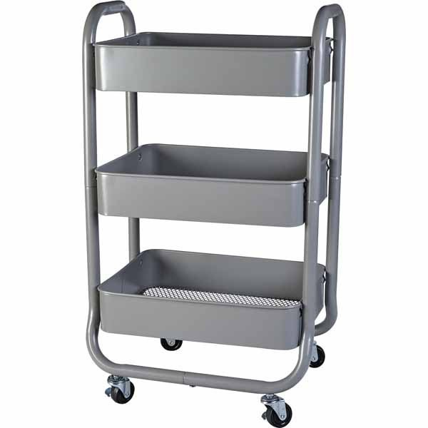 SOHL Furniture 3-Tier Metal Rolling Cart