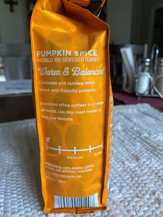 Barissimo's Seasonal Blend Pumpkin Spice Ground Coffee 3