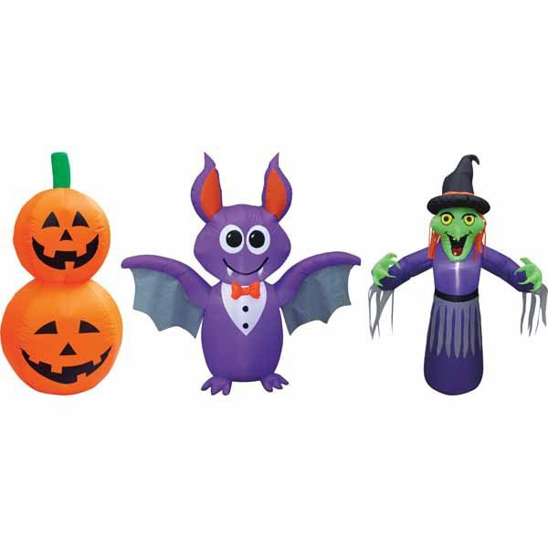 Huntington Home Witch, Bat, Pumpkins, Cat, Ghost or Spider 4' Inflatable