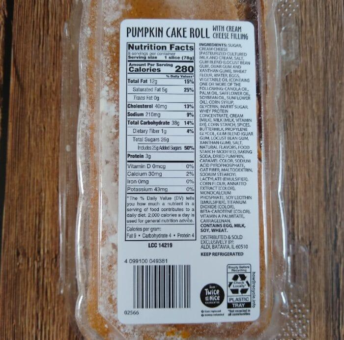 Bake Shop Pumpkin Cake Roll