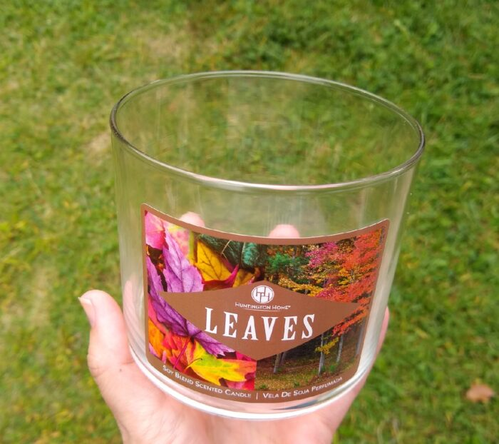 How to recycle Aldi candle