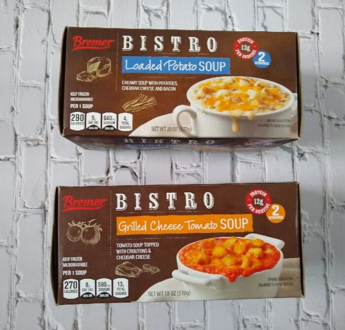 Bremer Bistro Grilled Cheese Tomato Soup and Loaded Potato Soup