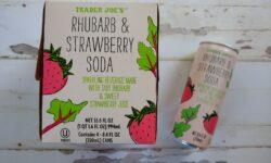 Trader Joe's Rhubarb and Strawberry Soda