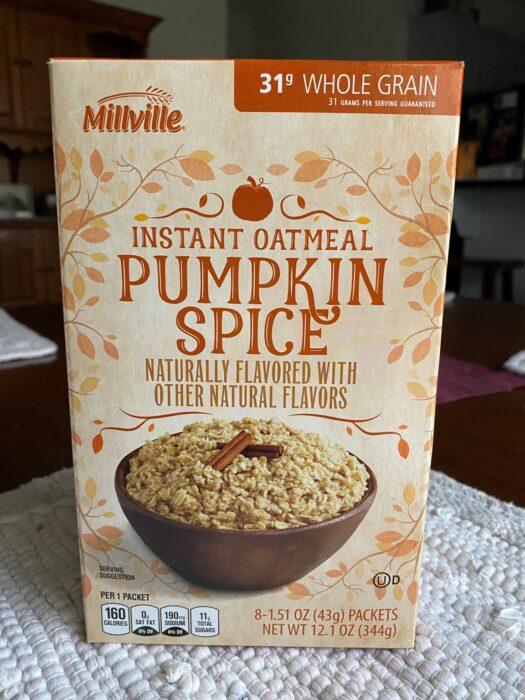 Millville Pumpkin Spice Instant Oatmeal 5