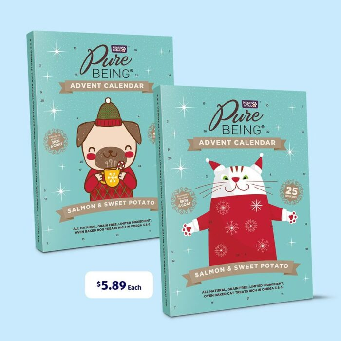 Pure Being Cat and Dog Treat Advent Calendars