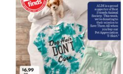Best Friends Animal Society Aldi t-shirts