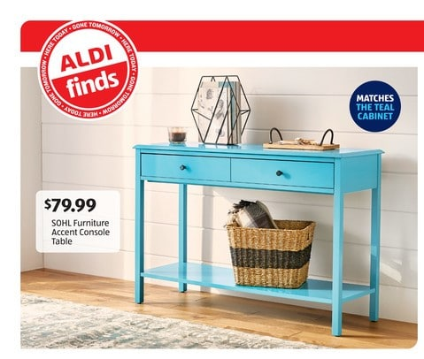 SOHL Furniture Teal Console Table (2)