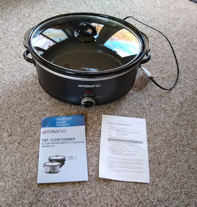 Ambiano 7 Quart Slow Cooker
