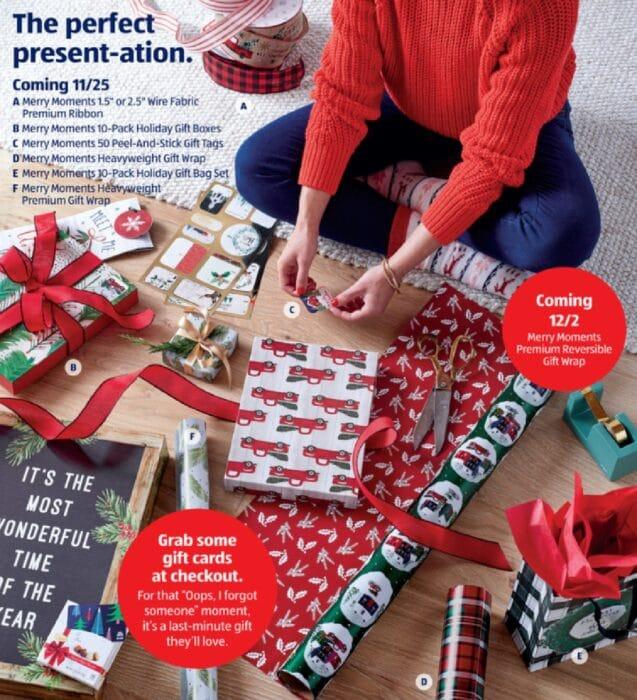 Aldi gift wrap