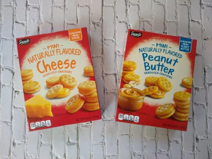 Savoritz Mini Cheese and Peanut Butter Sandwich Crackers