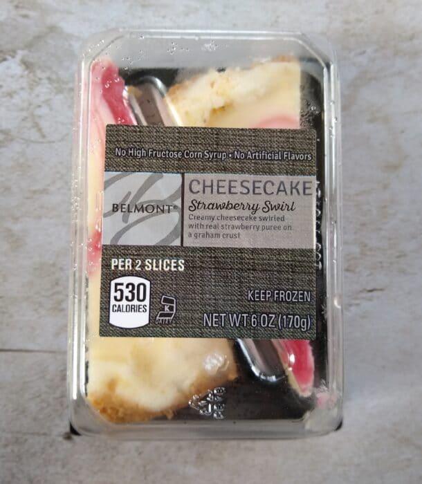 Belmont Strawberry Swirl Cheesecake