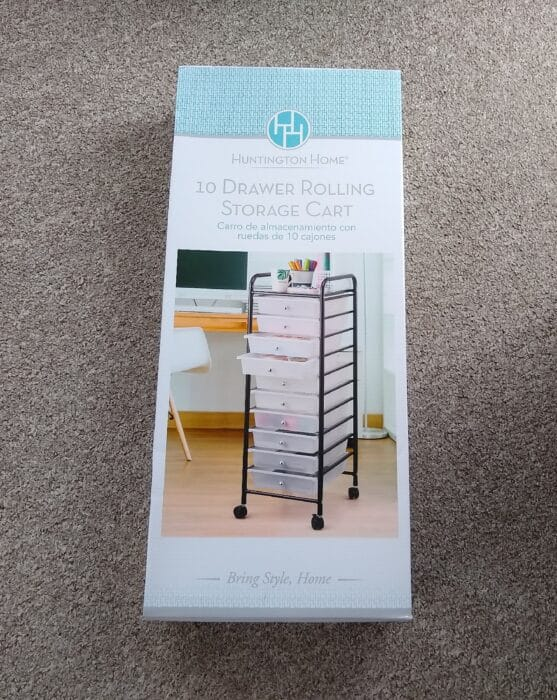 Huntington Home 10 Drawer Rolling Storage Cart