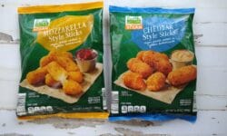 Earth Grown Mozzarella Style and Cheddar Style Sticks