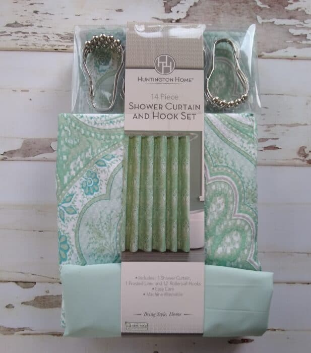Huntington Home Shower Curtain and Hook Set