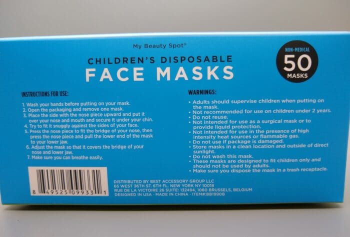 My Beauty Spot Disposable Face Mask