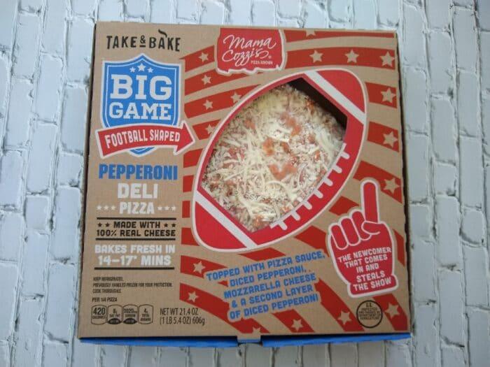 Mama Cozzi's Take & Bake Big Game Football Shaped Pepperoni Deli Pizza