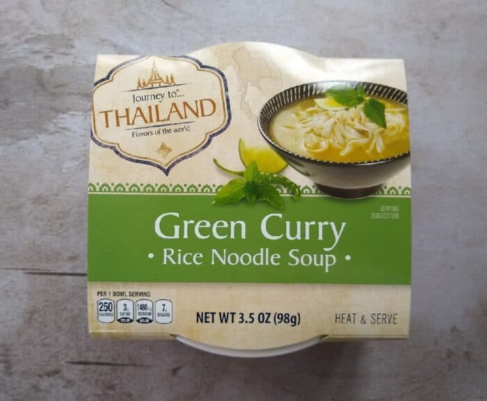 Journey to Thailand Green Curry Rice Noodle Soup