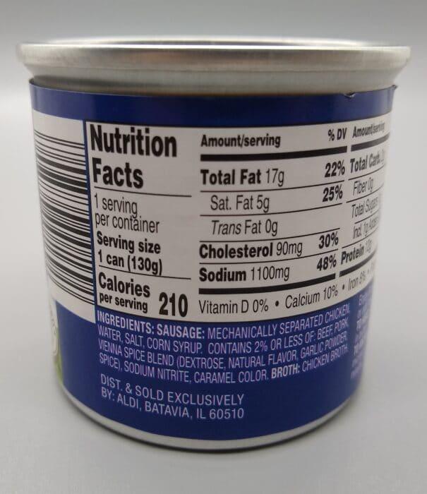 Brookdale Vienna Sausage - ingredients and nutrition