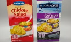 Northern Catch Ready to Eat Tuna Salad with Crackers and Brookdale Ready to Eat Chicken Salad with Crackers