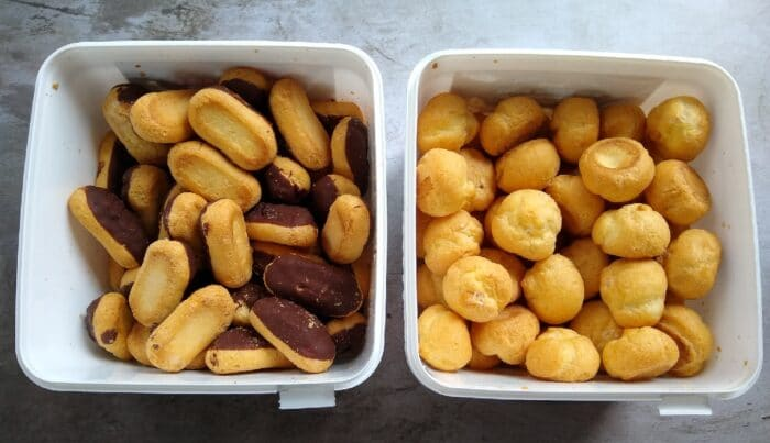 Specially Selected Mini Cream Puffs and Specially Selected Mini Éclairs