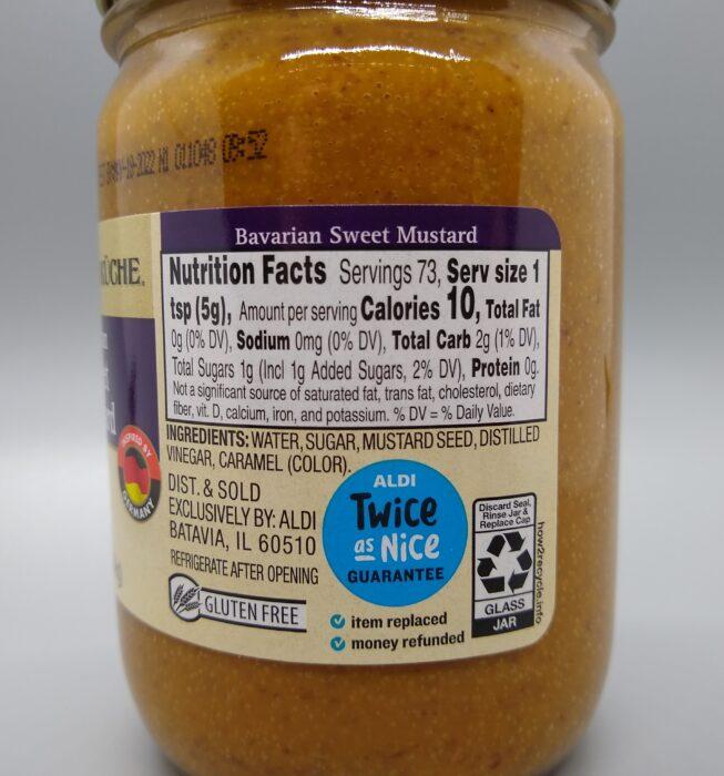 Deutsche Kuche Bavarian Sweet Mustard