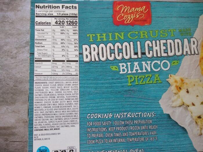 Mama Cozzi's Thin Crust Broccoli Cheddar Bianco Pizza