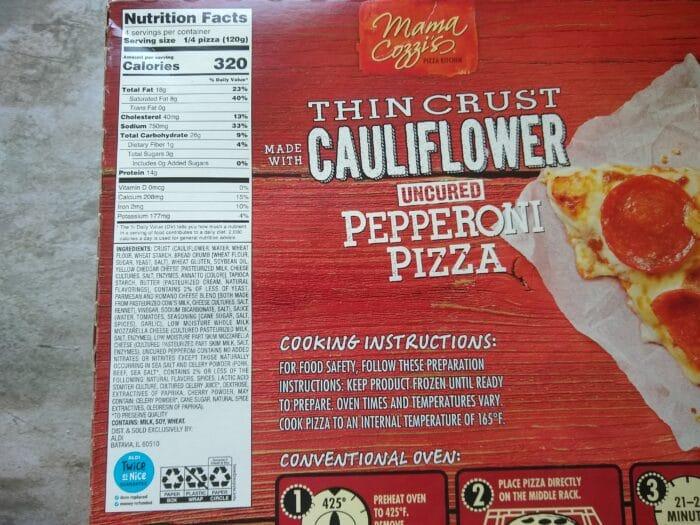 Mama Cozzi's Thin Crust Cauliflower Pepperoni Pizza