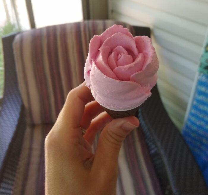 Sundae Shoppe Strawberries & Cream Rose Cones