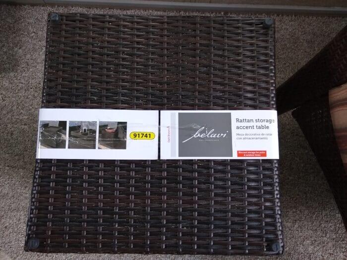 Belavi Rattan Storage Accent Table
