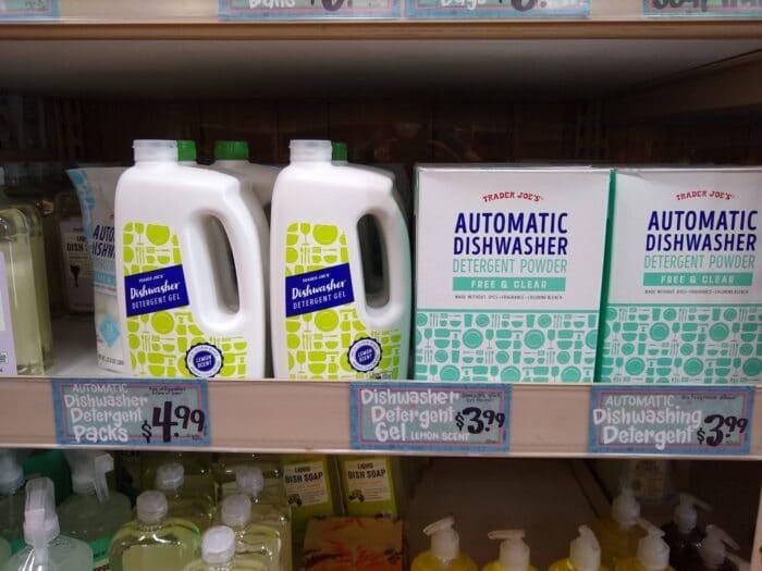 Trader Joe's Dishwashing Detergents