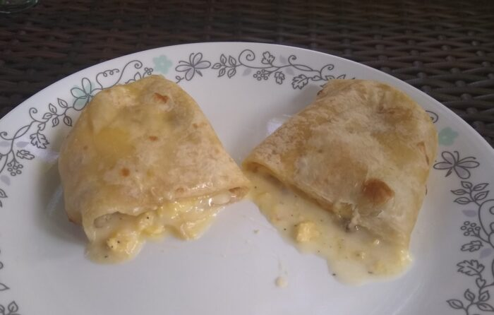 Chicken Sausage Breakfast Burrito