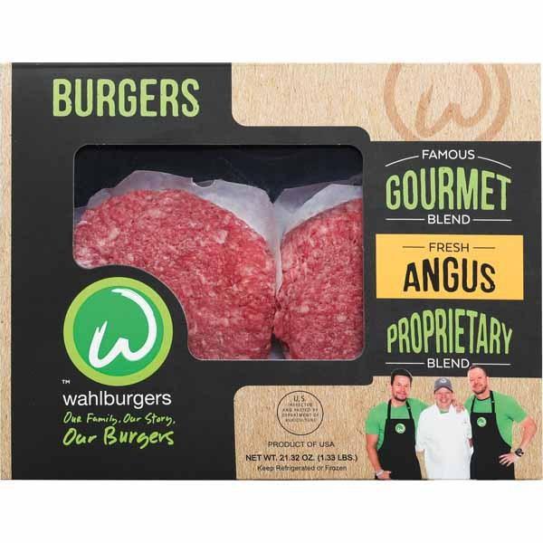 Wahlburgers Fresh Gourmet Blend Angus Beef Burgers