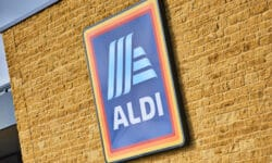 Aldi logo stock photo