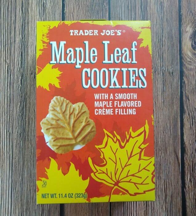 Trader Joe's Maple Leaf Cookies
